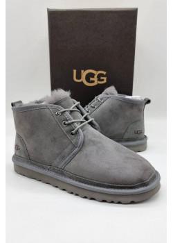 Мужские зимние ботинки серого цвета