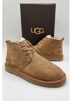 Мужские зимние ботинки бежевого цвета