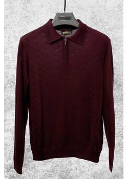 Классическая мужская кофта бордового цвета