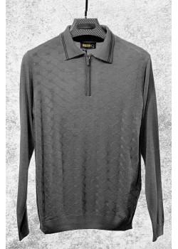 Классическая мужская кофта серого цвета