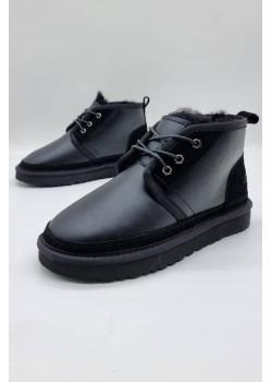 Зимние женские ботинки чёрного цвета