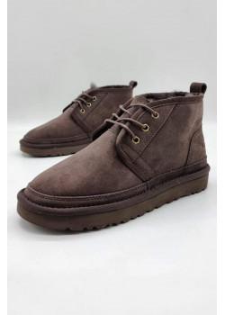 Зимние женские ботинки коричневого цвета