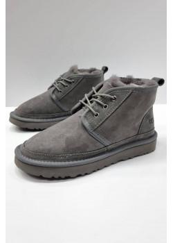 Зимние женские ботинки серого цвета