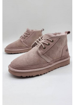 Зимние женские ботинки розового цвета