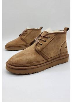 Зимние женские ботинки светло-коричневого цвета