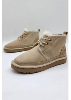 Зимние женские ботинки бежевого цвета