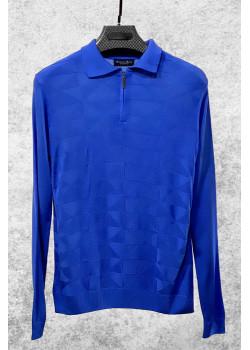 Классическая синяя кофта