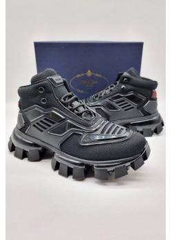 Мужские высокие кроссовки чёрного цвета