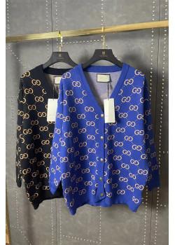 Женский брендовый кардиган синего цвета