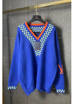 Женская брендовая кофта синего цвета