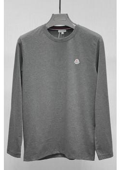 Мужской брендовый лонгслив серого цвета