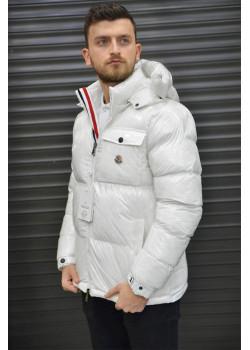 Мужская брендовая куртка белого цвета