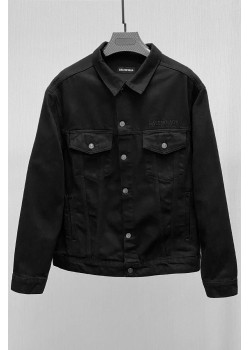 Мужская джинсовая куртка чёрного цвета