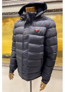 Классическая мужская куртка тёмно-синего цвета
