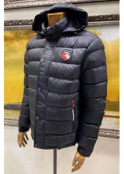 Мужская куртка тёмно-синего цвета