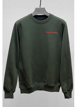 Мужской свитшот тёмно-зелёного цвета