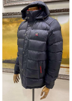 Мужская оверсайз куртка тёмно-синего цвета