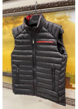 Классический мужской жилет чёрного цвета