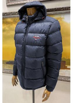Утеплённая мужская куртка тёмно-синего цвета